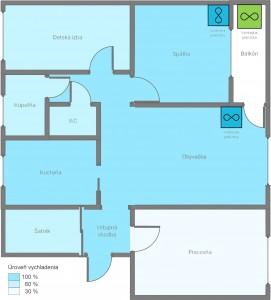 Podorys bytu s instalaciou klimatizacie dual split 271x300 1