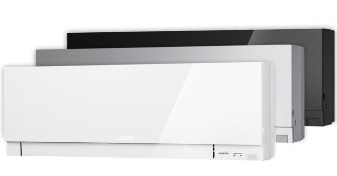 Dizajnove klimatizacie Mitsibishi biela a cierna
